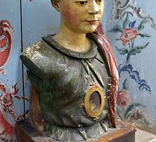 Wooden bust, Carmelite convent, Buçaco by juliedawnfox