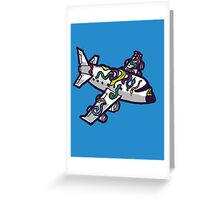 Snakes on a Plane (literally) Greeting Card