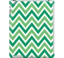 Chevrons, Zigzag Background, Green White iPad Case/Skin