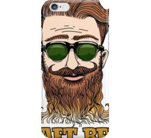 Hipster Craft Beer Theme iPhone Case/Skin