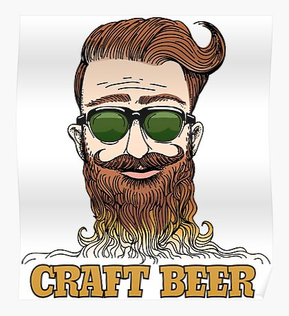 Hipster Craft Beer Theme Poster