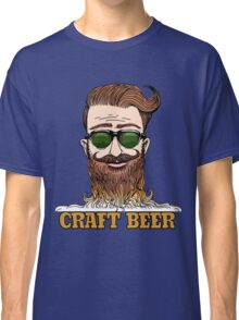Hipster Craft Beer Theme Classic T-Shirt