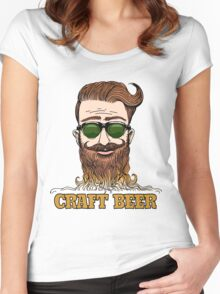 Hipster Craft Beer Theme Women's Fitted Scoop T-Shirt