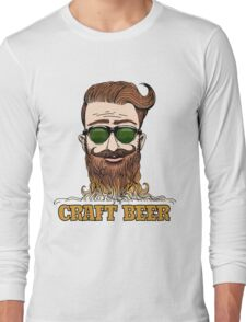 Hipster Craft Beer Theme Long Sleeve T-Shirt