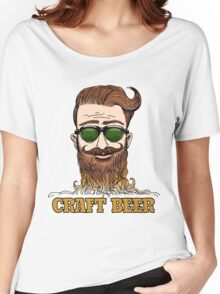 Hipster Craft Beer Theme Women's Relaxed Fit T-Shirt