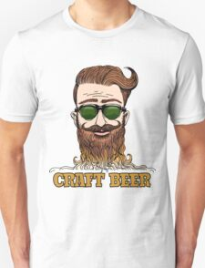 Hipster Craft Beer Theme T-Shirt