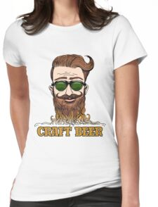Hipster Craft Beer Theme Womens Fitted T-Shirt