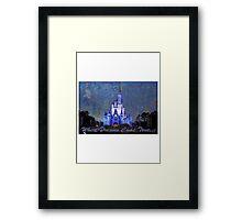 Disney World Castle Framed Print