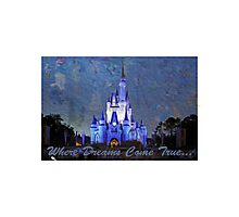 Disney World Castle Photographic Print