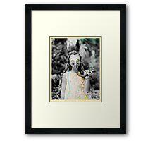 gas : girl Framed Print