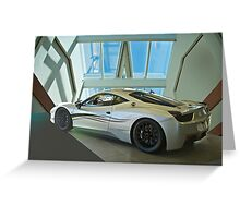 2012 Ferrari F458 'Challenge Car' Greeting Card