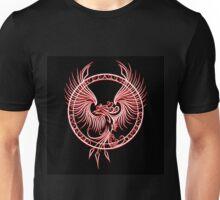 Phoenix Emblem in Circle Unisex T-Shirt