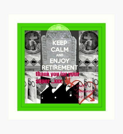 retirement funds Art Print