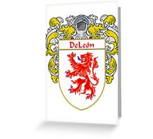 DeLeon Coat of Arms/Family Crest Greeting Card