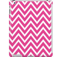 Chevrons, Zigzag Background Pink, White iPad Case/Skin
