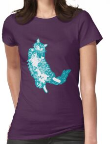Mona Bear Teal Womens Fitted T-Shirt