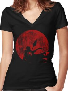 Row row the power Women's Fitted V-Neck T-Shirt