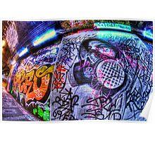 Masked graffiti man Poster