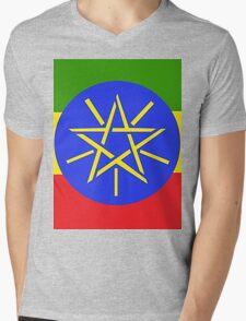 Ethiopian Flag Mens V-Neck T-Shirt