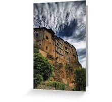 Casas colgadas in Frias, Spain Greeting Card
