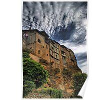 Casas colgadas in Frias, Spain Poster