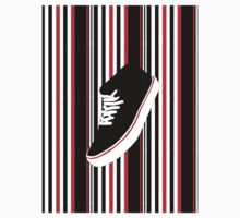 Black Shoe One Piece - Short Sleeve