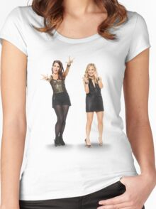 Tina and Amy; Sisters Women's Fitted Scoop T-Shirt