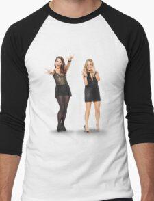 Tina and Amy; Sisters Men's Baseball ¾ T-Shirt