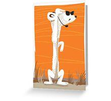 Secret agent Meerkat Greeting Card