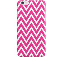 Chevrons, Zigzag Background Pink, White iPhone Case/Skin