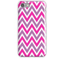 Chevrons, Zigzag background Pink, Purple iPhone Case/Skin