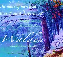 Thoreau Walden Pond by KayeDreamsART