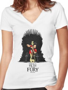 Ours is The Filth and The Fury Women's Fitted V-Neck T-Shirt