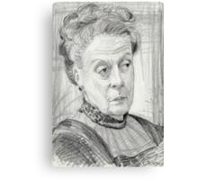Countess Violet Crawley of Downton Abbey Canvas Print