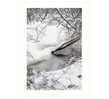 Snow on the Water - SPNHF - Concord, NH 02-24-13 Art Print