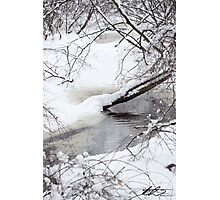Snow on the Water - SPNHF - Concord, NH 02-24-13 Photographic Print