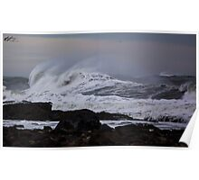 Heavy Surf as a Nor'Easter Pulls out to Sea - North Hampton, NH 03-08-13 Poster