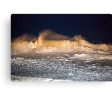 Heavy Surf as a Nor'Easter Pulls out to Sea - North Hampton, NH 03-08-13 Canvas Print