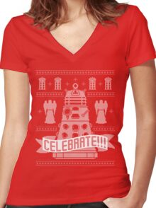 CELEBRATE!!! Women's Fitted V-Neck T-Shirt