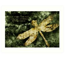 Coheed and Cambria Dragonfly Poster Art Print