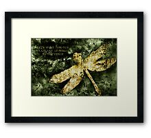 Coheed and Cambria Dragonfly Poster Framed Print