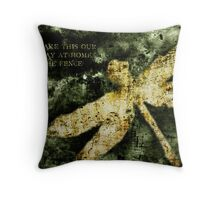 Coheed and Cambria Dragonfly Poster Throw Pillow