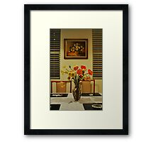 Poppies and Paintings  Framed Print