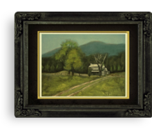 """""""Philip's Place"""", with a textured paper impression, in a matted and framed look Canvas Print"""