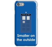 Tardis smaller on the outside iPhone Case/Skin
