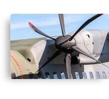 Airplane propeller detail. Canvas Print