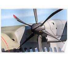 Airplane propeller detail. Poster
