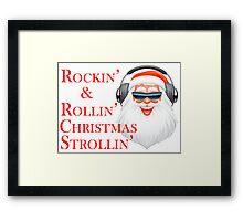 Rockin' Cool Santa Claus With Headphones Framed Print