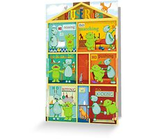 House rules for kids Greeting Card