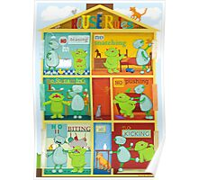 House rules for kids Poster